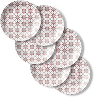 product image for Corelle Chip Resistant Lunch Plates, 6-Piece, Amalfi Rosa