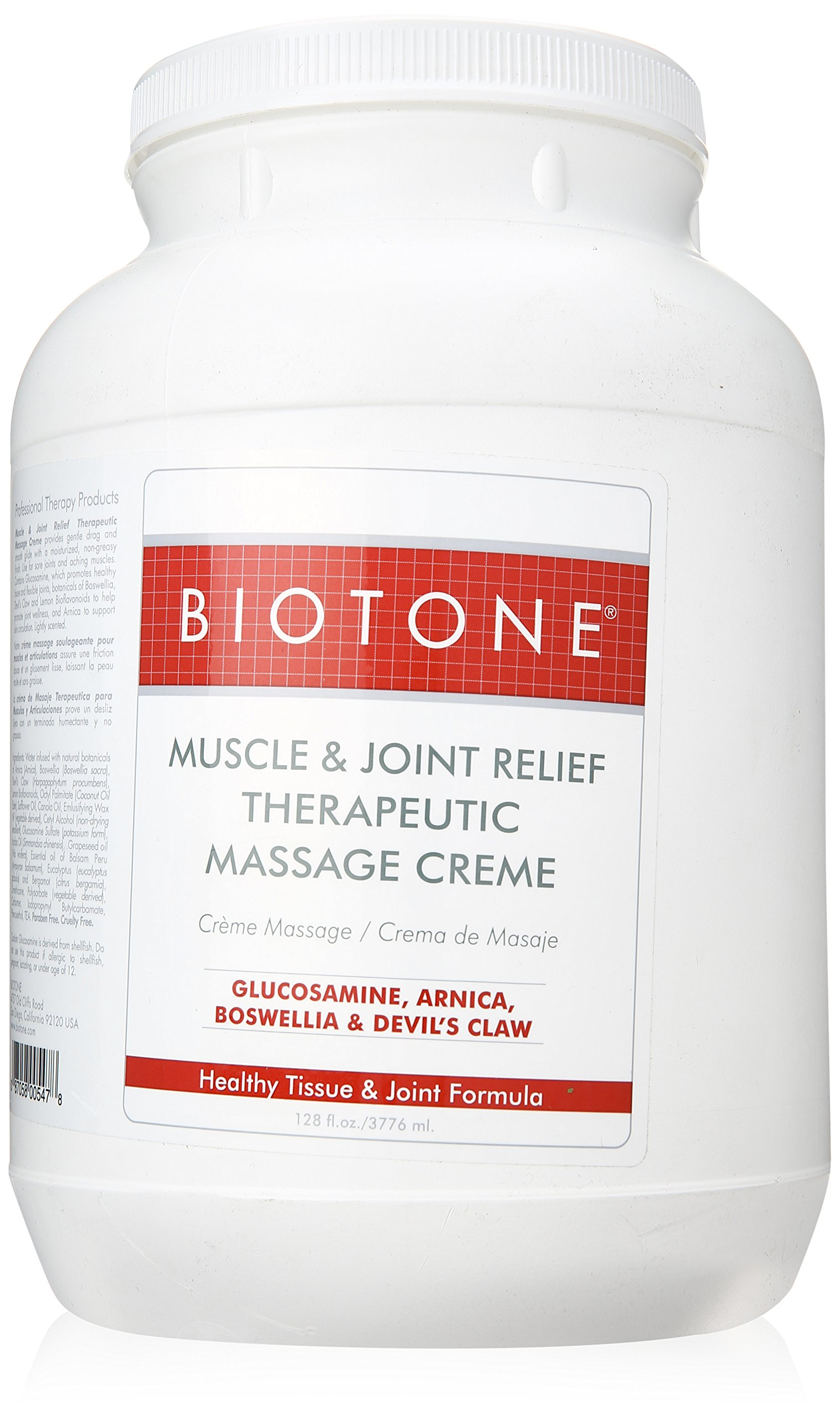 Biotone Muscle Joint Relief Creme, 128 Ounce (1 Gallon)