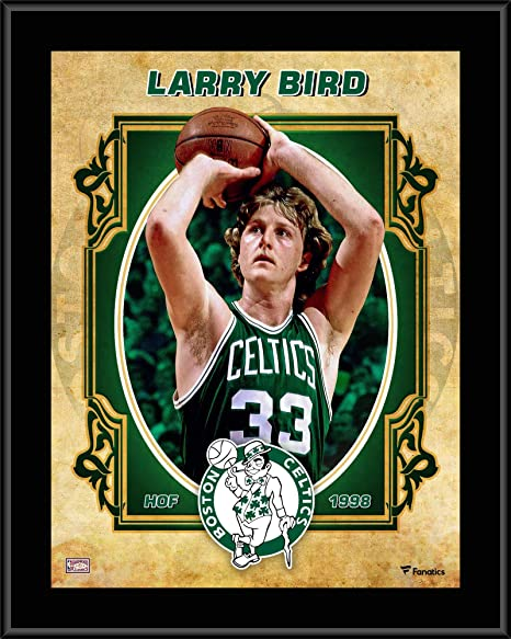 7f54ec1ebdc Larry Bird Boston Celtics 10.5 quot  x 13 quot  Sublimated Hardwood  Classics Player Plaque - NBA