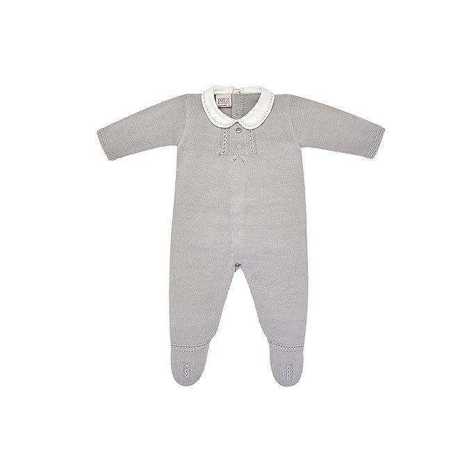 PAZ Rodriguez 005-80771, Pelele para Bebés, Gris (Perla) Recién Nacido