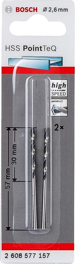 accesorio de taladro 3.2 x 36 x 65/mm para metal Bosch Professional 2 brocas helicoidal HSS PointTeQ