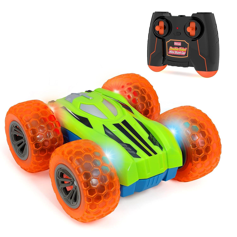 Kidzlane Remote Control Car -Mini Double-Sided Stunt Car - Cool Antics & Tricks