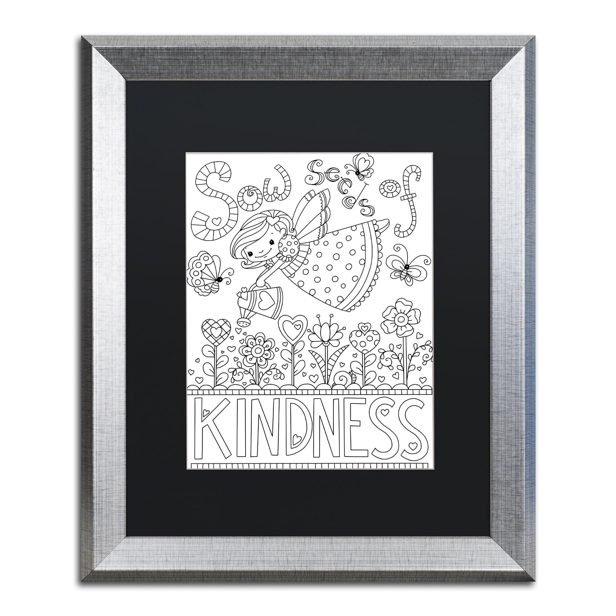 Sow Seeds by Jennifer Nilsson, Black Matte, Silver Frame 16x20-Inch by Trademark Fine Art