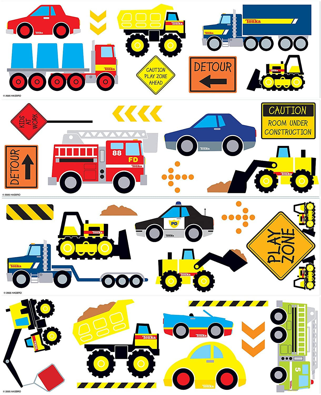 Brewster Tonka Cars Trucks Wall Decals