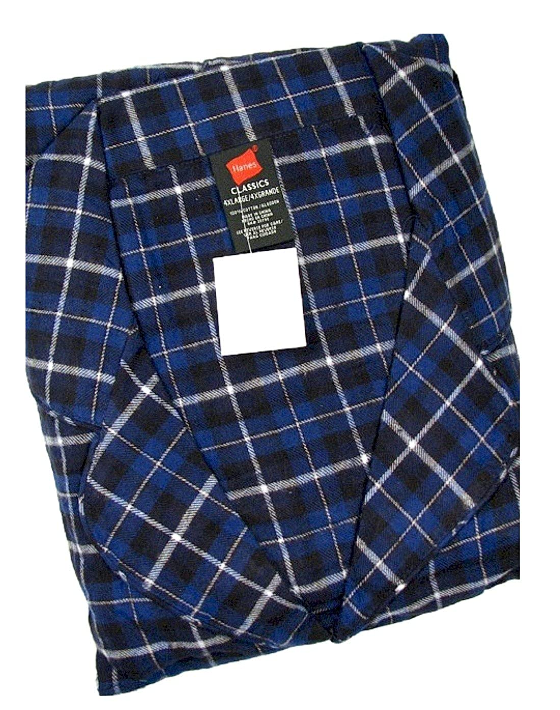 Hanes Classics Big and Tall Flannel Plaid Pajama