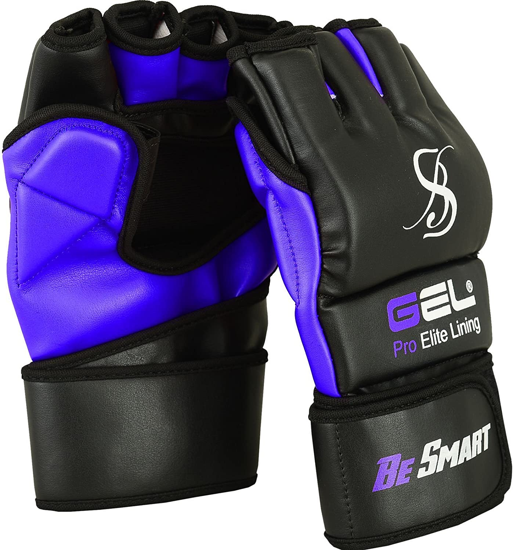 BeSmartGants MMA pour sac de frappe en rexine UFC avec rembourrage en gel Muay Thai G