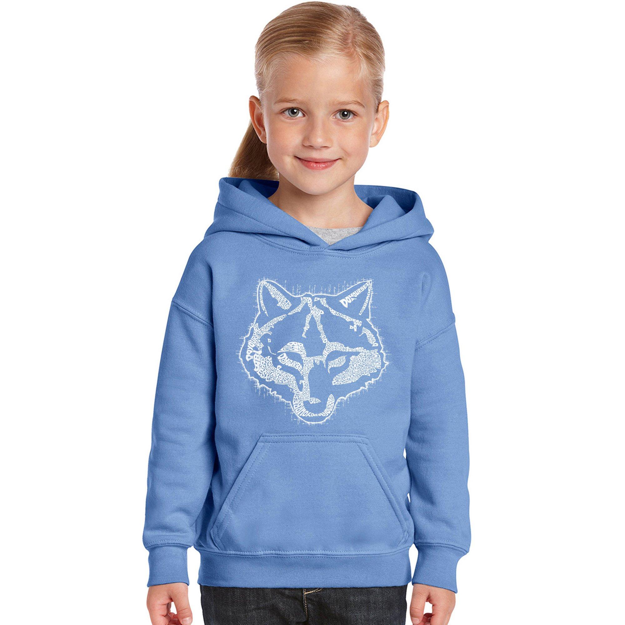 Girl's Word Art Hooded Sweatshirt - Cub Scout- LA Pop Art by Los Angeles Pop Art