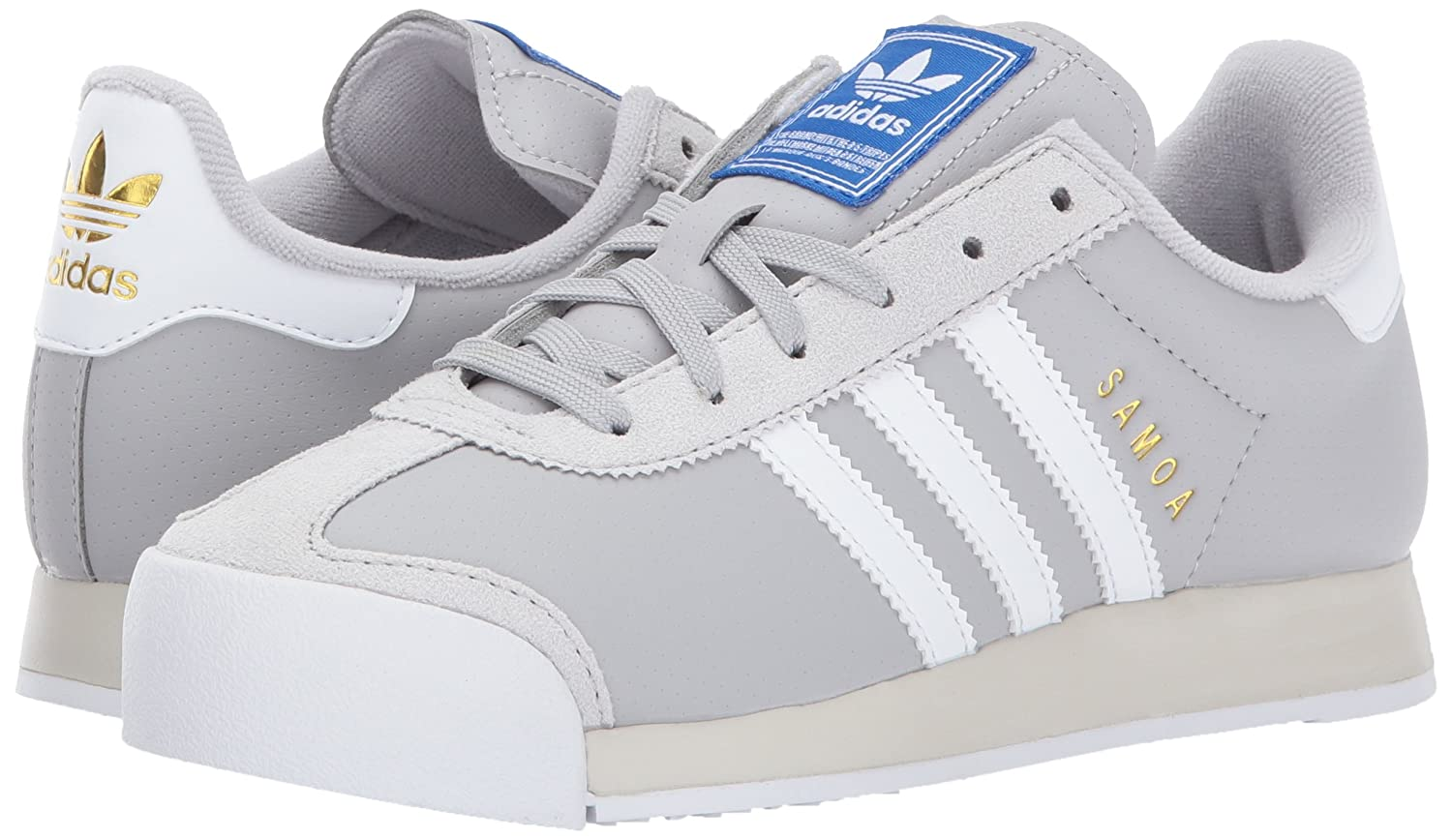 adidas Originals Women's Samoa Casual Shoes B01MYZTLLX 9.5 M US|Grey Two/White/Talc