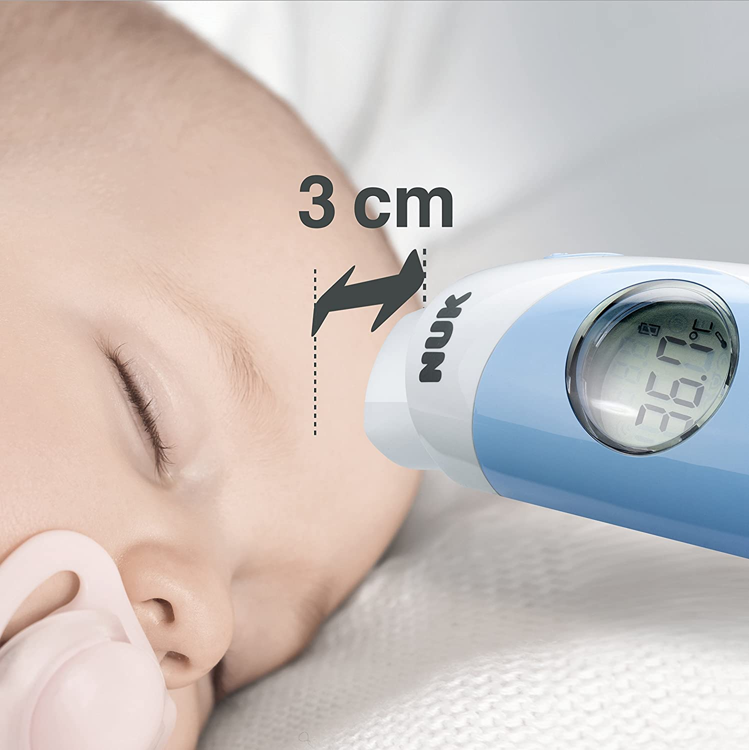 Amazon.com: NUK Flash Baby Thermometer, Contactless Infra-Red Forehead Measurement, Quick and Hygienic Measurement in Seconds by NUK: Health & Personal Care