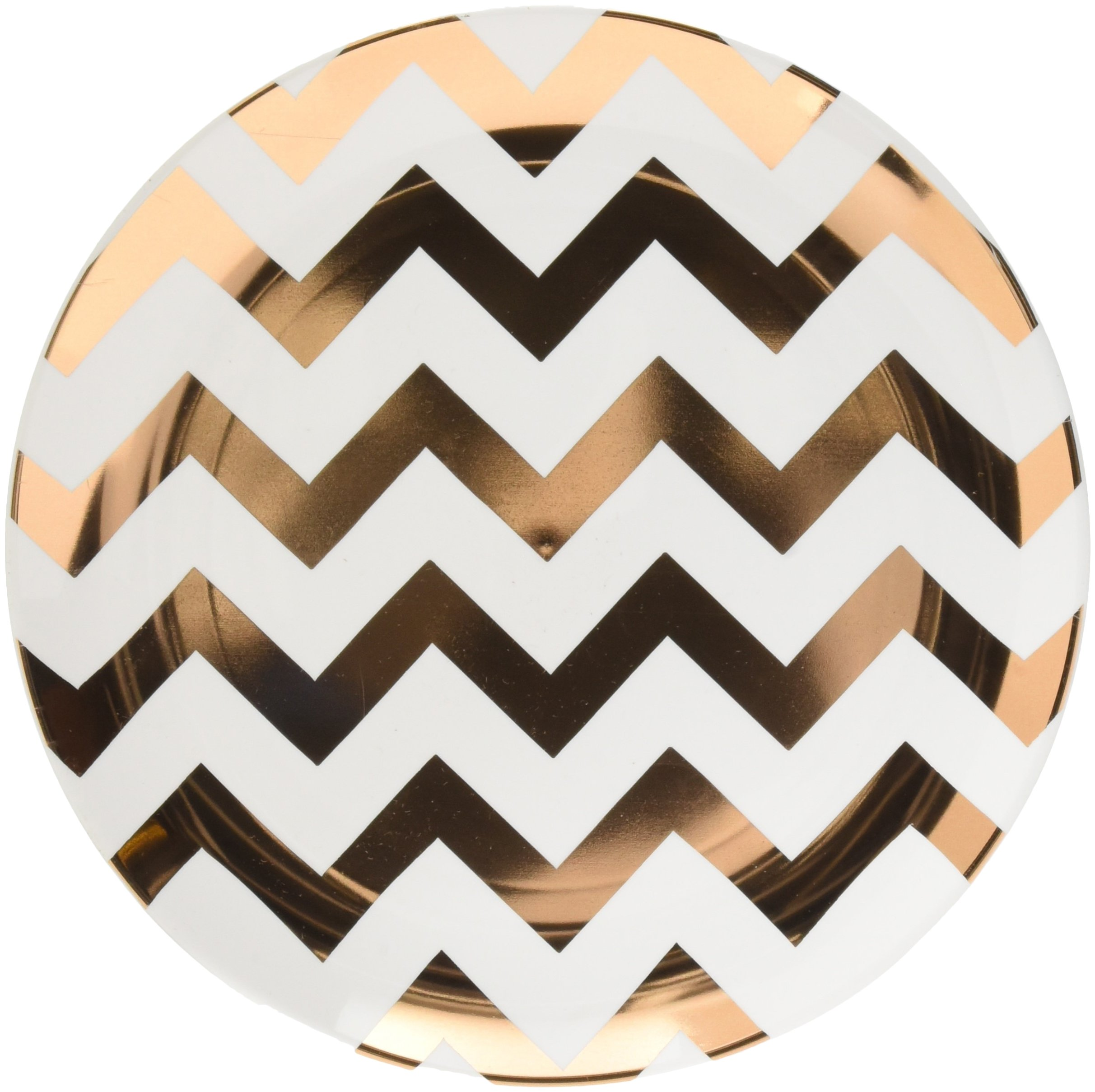 Amscan Party Plastic Childrens Plates, Rose Gold