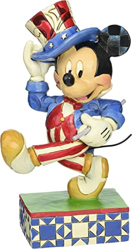 Enesco Disney Traditions by Jim Shore Yankee Doodle Mickey Figurine, 7 in