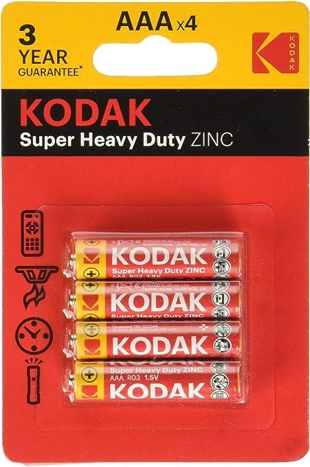 KODAK 30953321, Pilas R3 AAA, Pack 4 pilas: KODAK: Amazon.es: Oficina y papelería