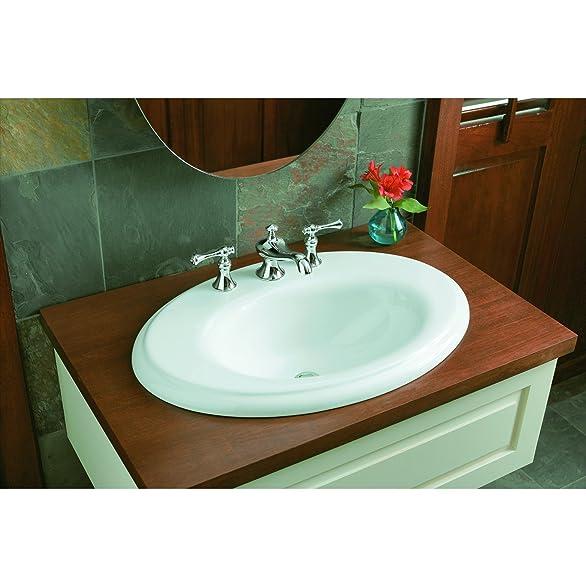 KOHLER K-16102-4A-PB Revival Widespread Lavatory Faucet, Vibrant ...
