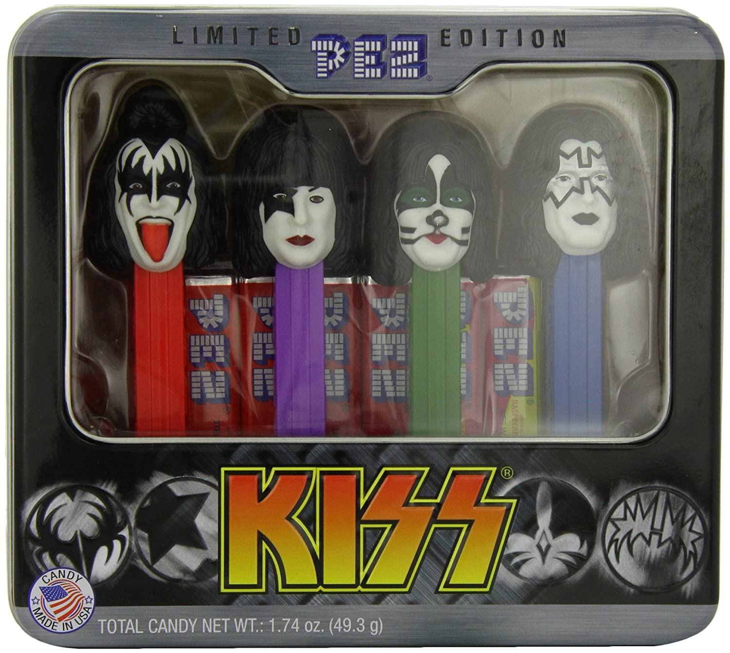 PEZ Gift Tin, Kiss, 1.74 Ounce