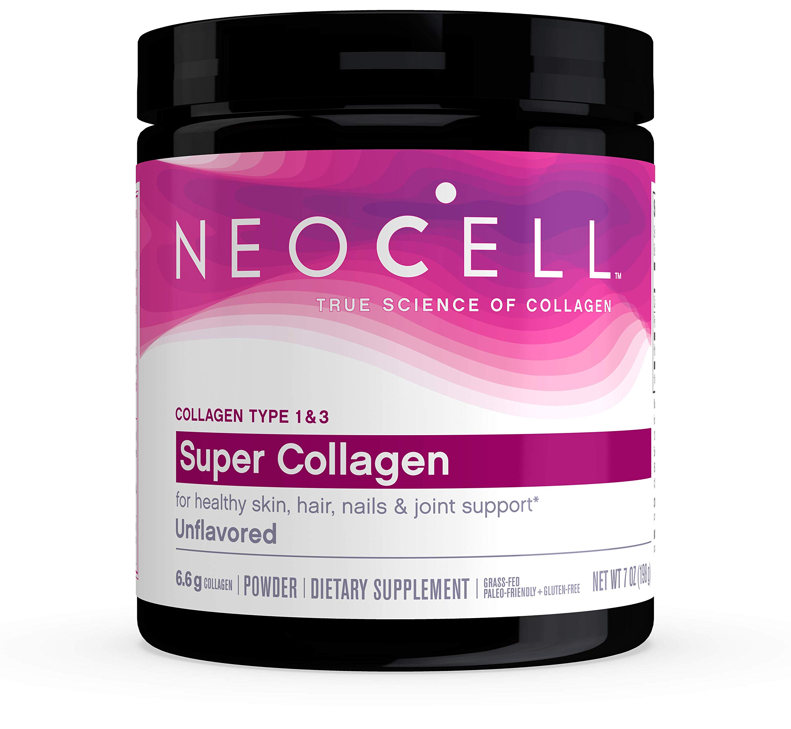 NeoCell Super Collagen Powder - 6,600mg Collagen Types 1 & 3 - unflavored - 7 Ounces (Packaging May Vary) by Neocell
