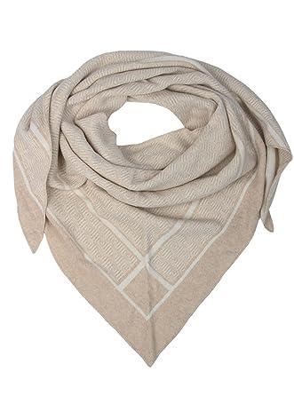 54a370a5fd1a Echarpe triangle en cachemire - Qualité supérieure avec labyrinthe pour  fille et garçon - Echarpe et