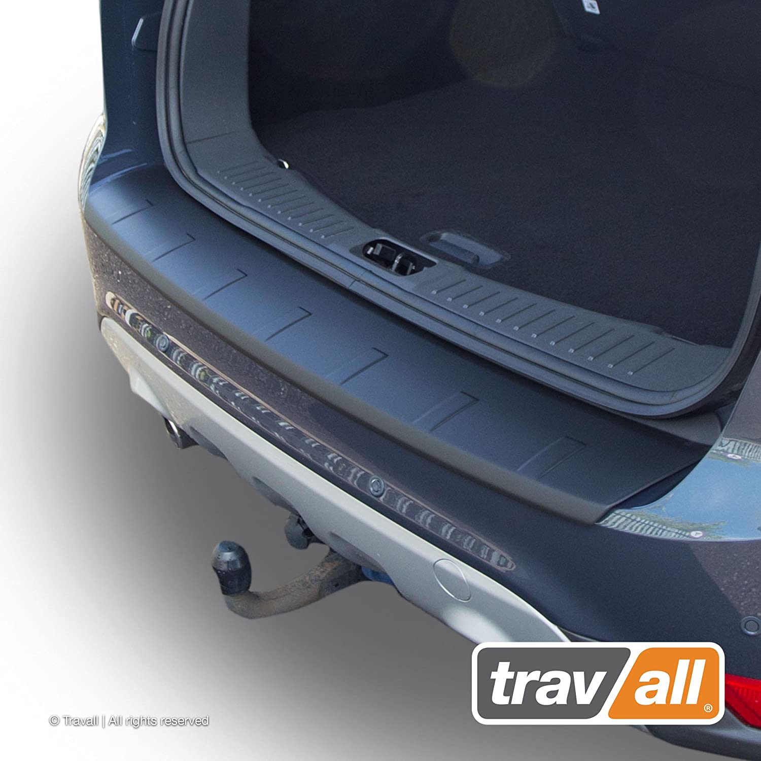 Ridged Travall Protector TBP1002P Vehicle-Specific Black Plastic Moulded Rear Bumper Protector