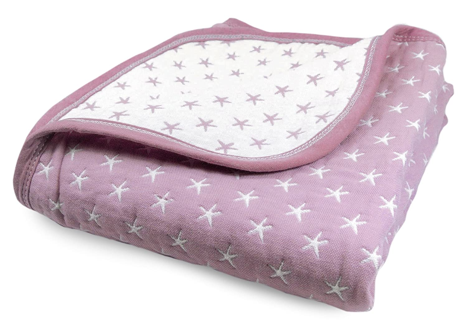 Cute New York Sweet Dream Blanket//Purple Lightweight All Weather Cotton Jacquard Blanket for Babies and Toddlers