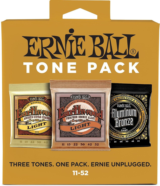 Ernie Ball Medium Light Acoustic Tone Pack - 12-54 Gauge Ernie Ball Music Man 3313