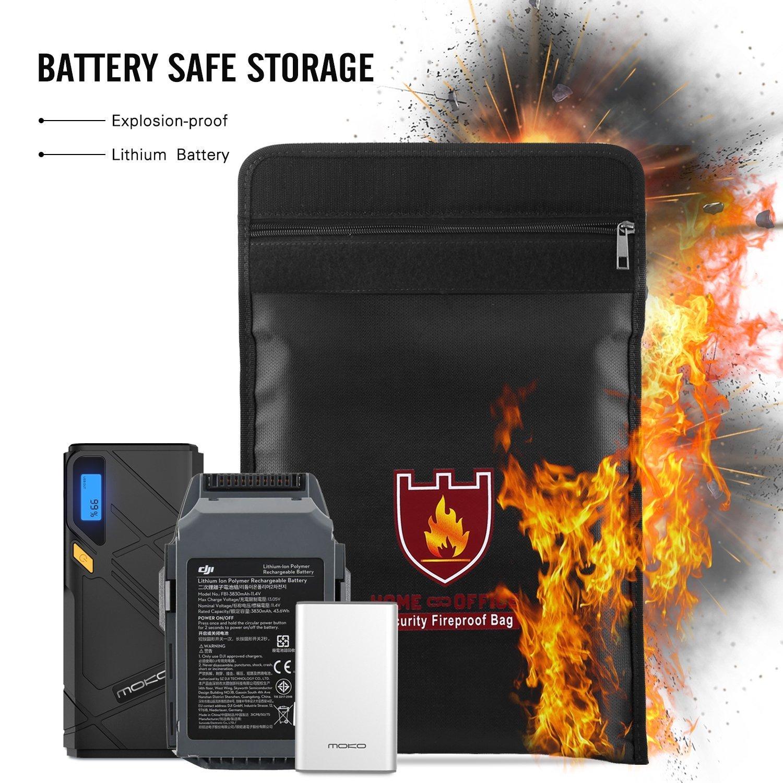 LiPo Bater/ía Seguro Bolsa para Juguetes RC Radiocontrol Veh/ículo Drone Coche 240 x 64 x 180 mm Suncentech Bater/ía Bolsa Ign/ífugo Almacenamiento Saco