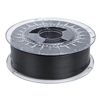MadridGadgetStore® Filamento PLA 1.75 mm 1.75mm Negro Ingeo ...