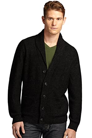 Indigenous Men's Alpaca Shawl Collar Cardigan at Amazon Men's ...