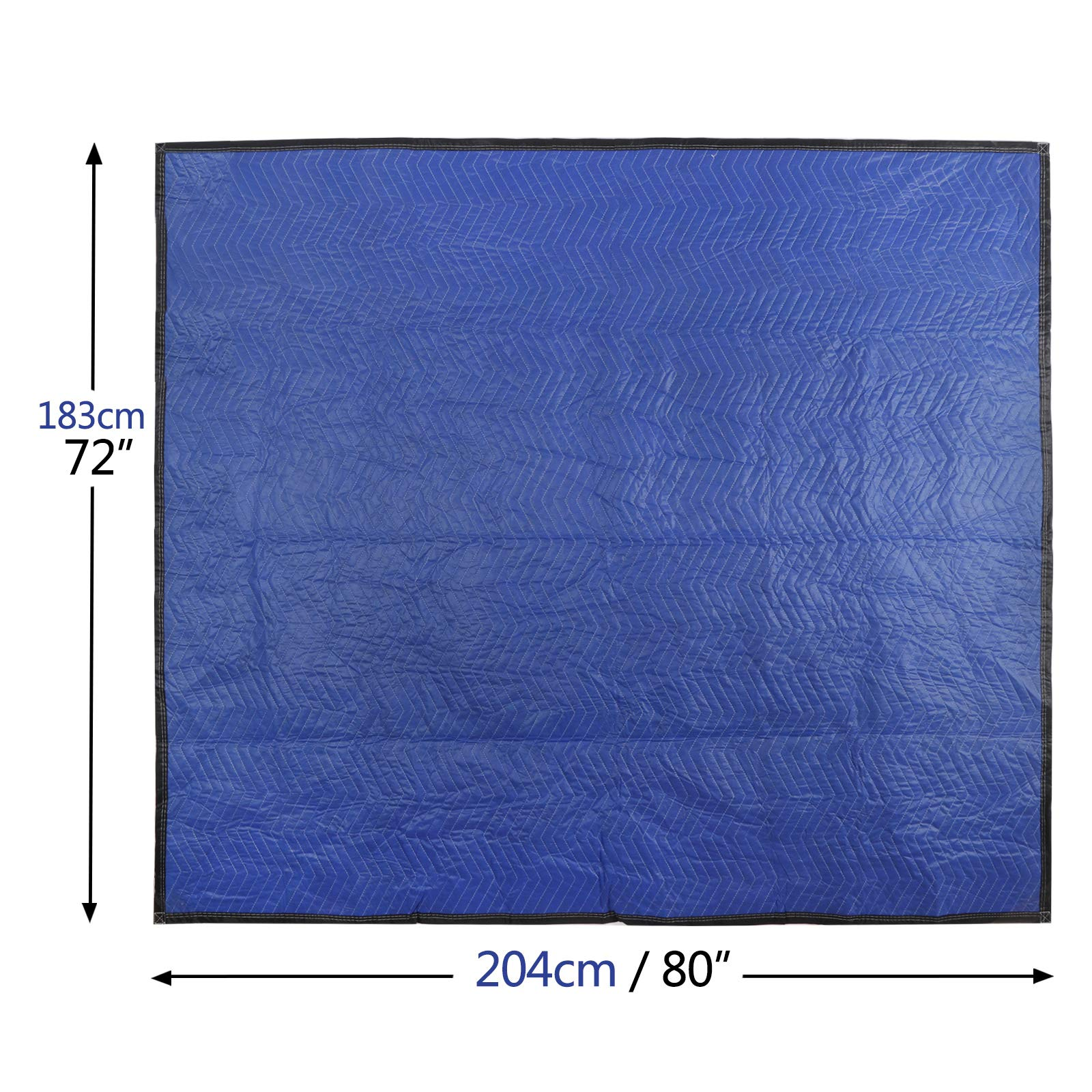"""F2C Mover Moving Blankets Pro Economy Thick 80""""x 72"""" Moving Packing Blankets Skins Pack of 12 Total 35Lbs/ Doz, Blue by F2C (Image #7)"""