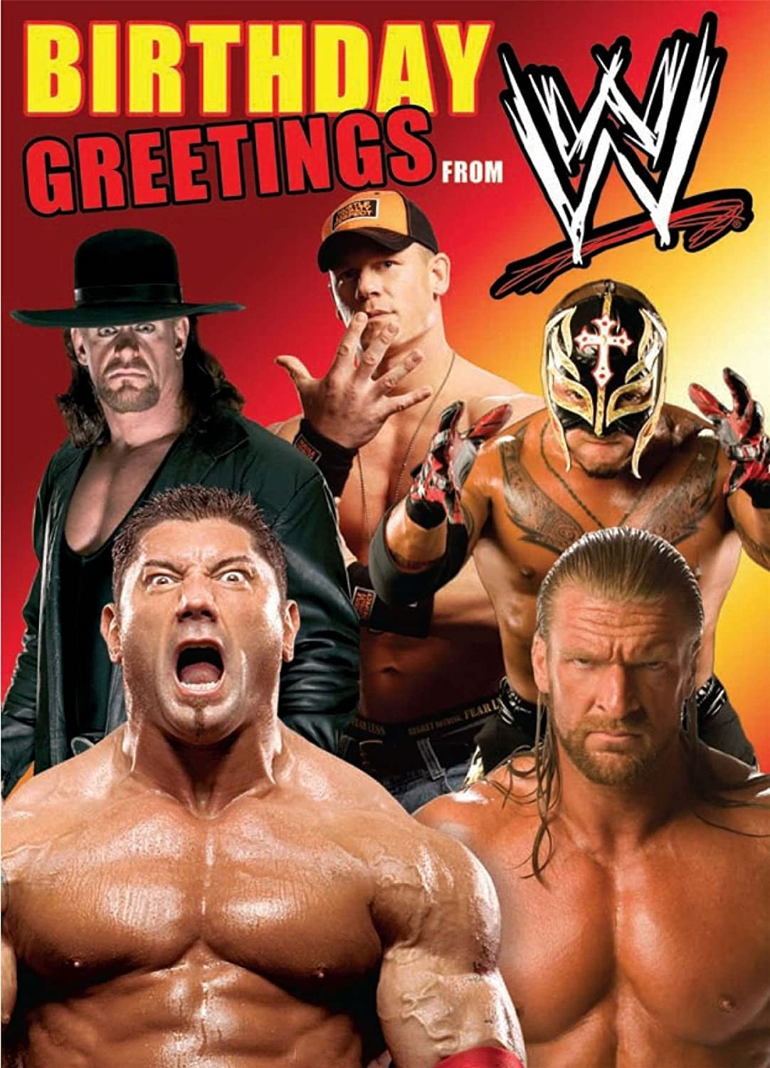 Official Wwe Birthday Card With Recorded Message For The Birthday