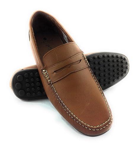 Zerimar Mocasin de Piel Para Hombre Zapatos Hombre Mocasines Calzado Hombre Vestir Color Camel Talla 41: Amazon.es: Zapatos y complementos