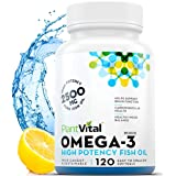 NEW! Omega 3 Fish Oil Capsules, 2500mg TRIPLE STRENGTH EPA & DHA, 120 Count, No Fish Flavor, Norwegian Deep Water Cold…