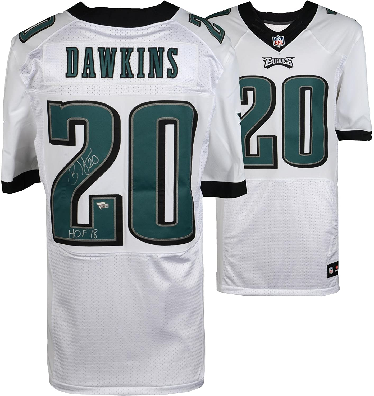 sale retailer d2cfb ea563 Brian Dawkins Philadelphia Eagles Autographed White Nike ...