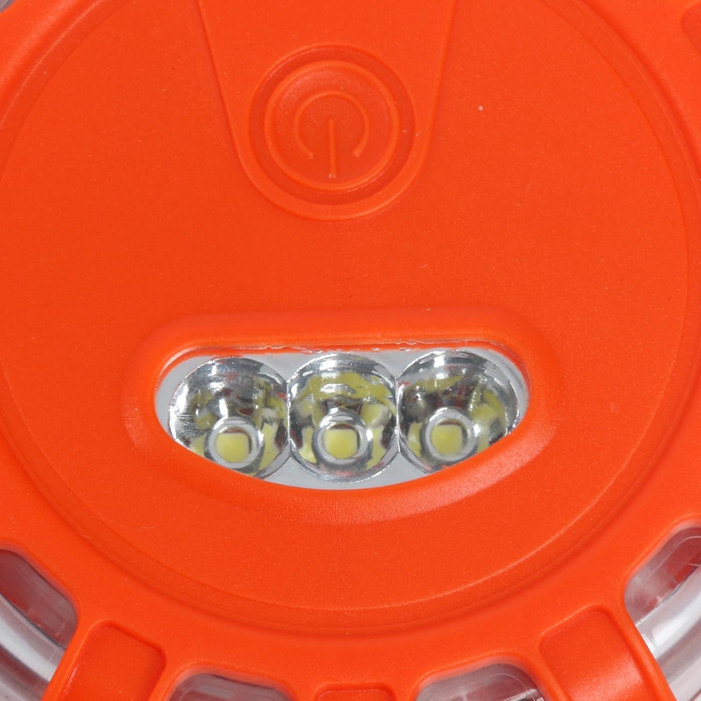 para coche luces intermitentes de advertencia para carretera barco YaeKoo Luces LED de seguridad para carretera pilas no incluidas cami/ón paquete de 3