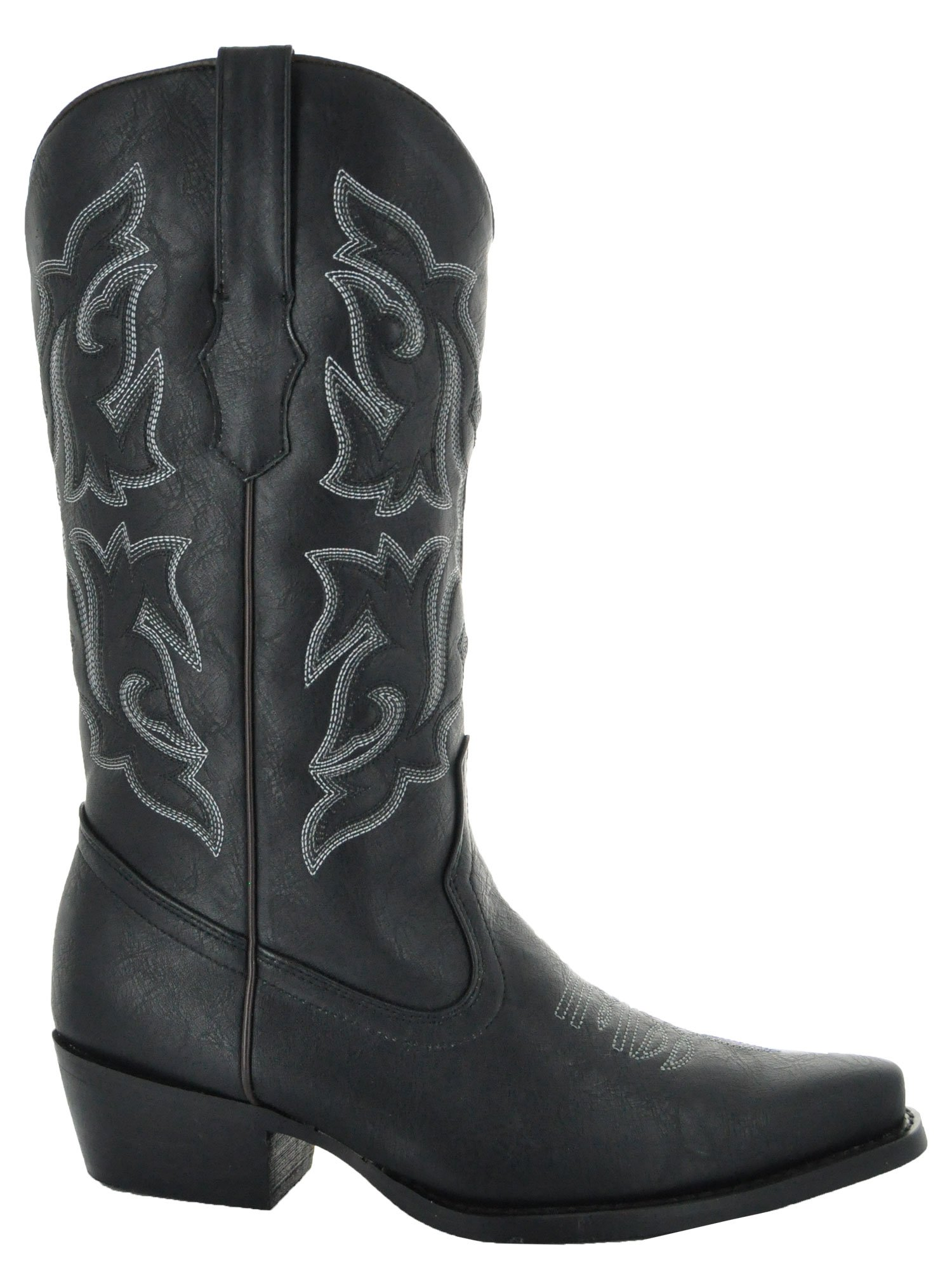 Country Love Pointed Toe Women's Cowboy Boots W101-1001 (7, Black) by Country Love Boots (Image #2)