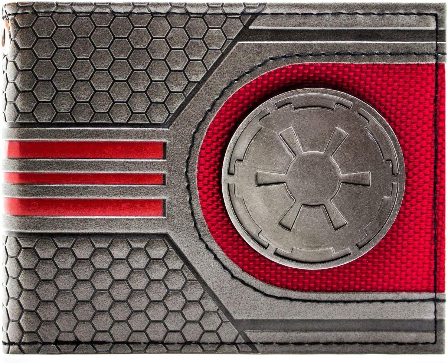 Cartera de Disney Star Wars Logotipo galáctico Metal Plata