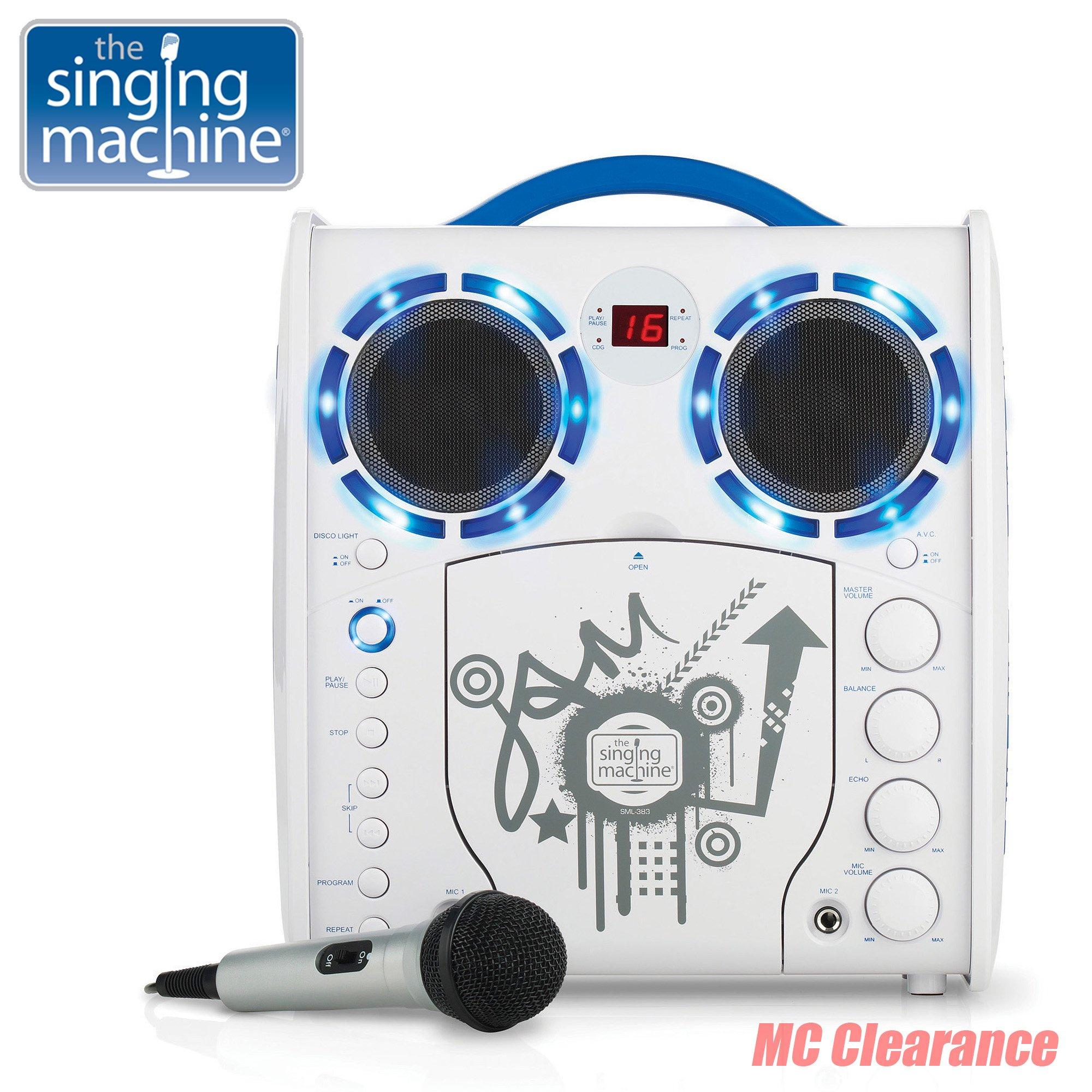 Portable Karaoke CD/CDG Player Singing Machine SML-383YB Limited Edition, Youth Blue (Refurbished)