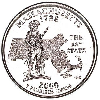 Amazon com: 2000 P State Quarter Massachusetts CN-Clad