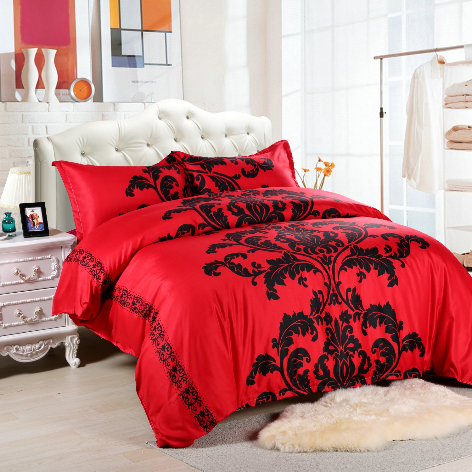 3 pieces boho bedding set ultra soft microfiber bohemian for Ikea bed covers sets queen