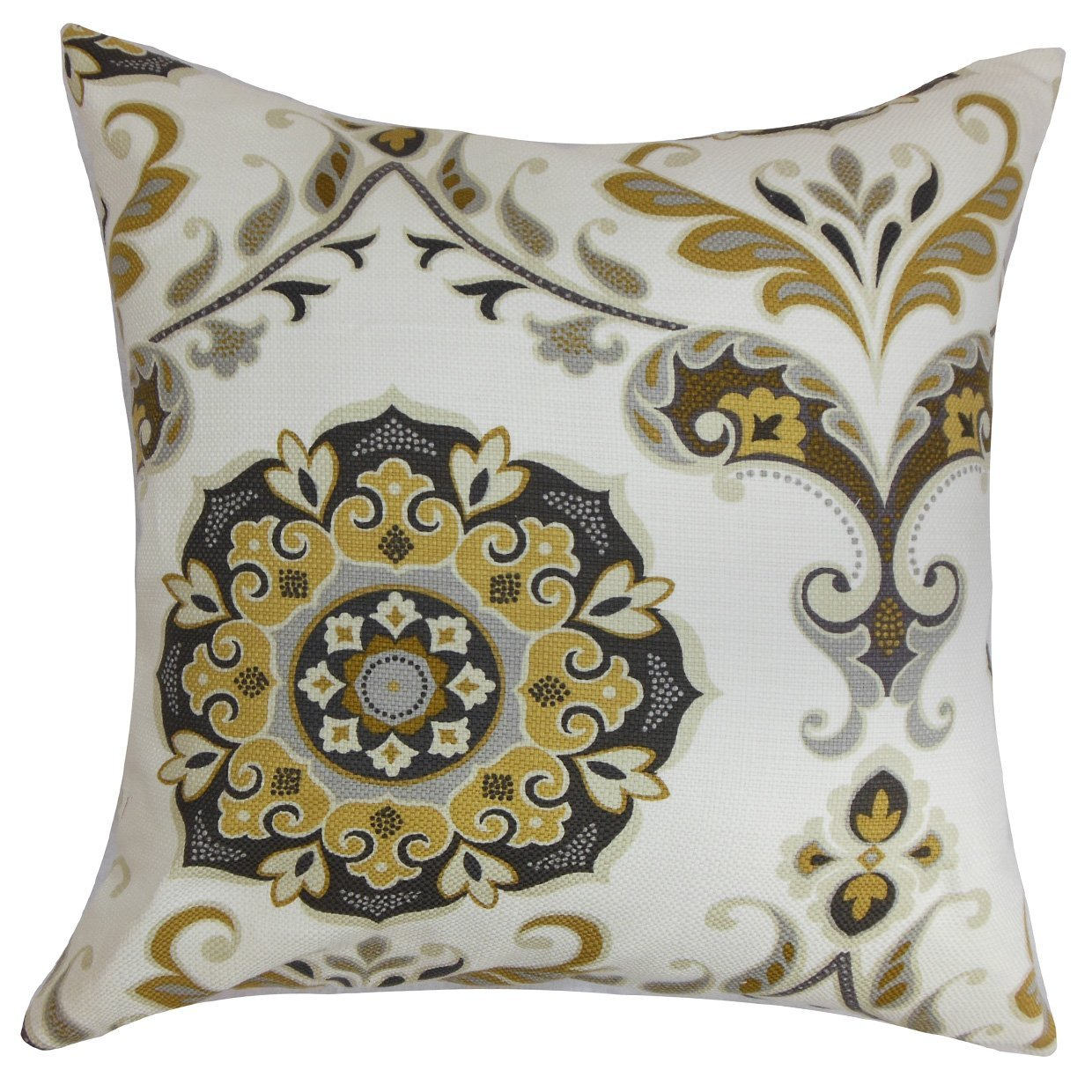 The Pillow Collection Orana Floral Bedding Sham Brown Gray King//20 x 36