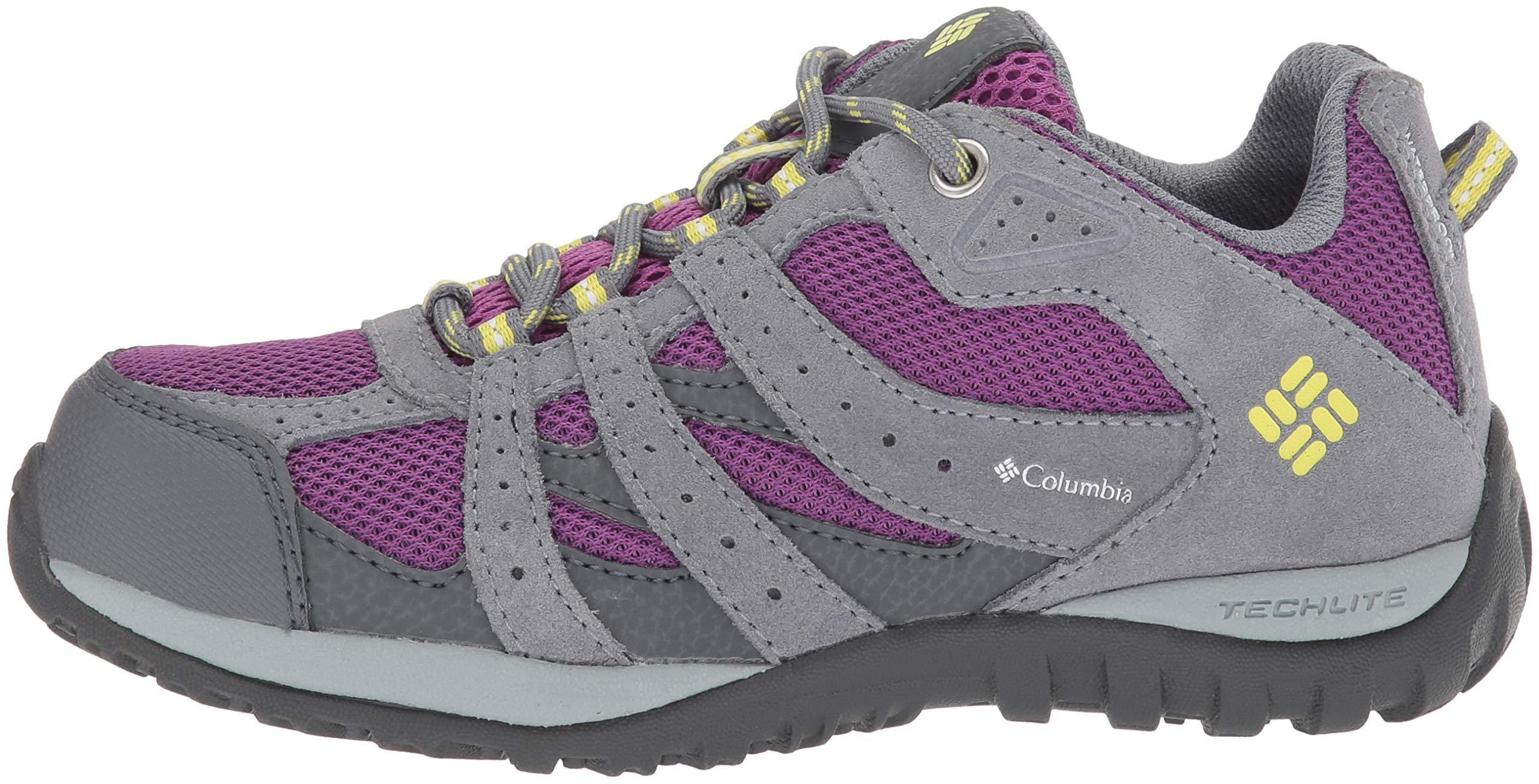 Columbia Girls' Youth Redmond Waterproof Hiking Shoe, Plum, Fresh Kiwi, 4 Regular US Big Kid by Columbia (Image #5)