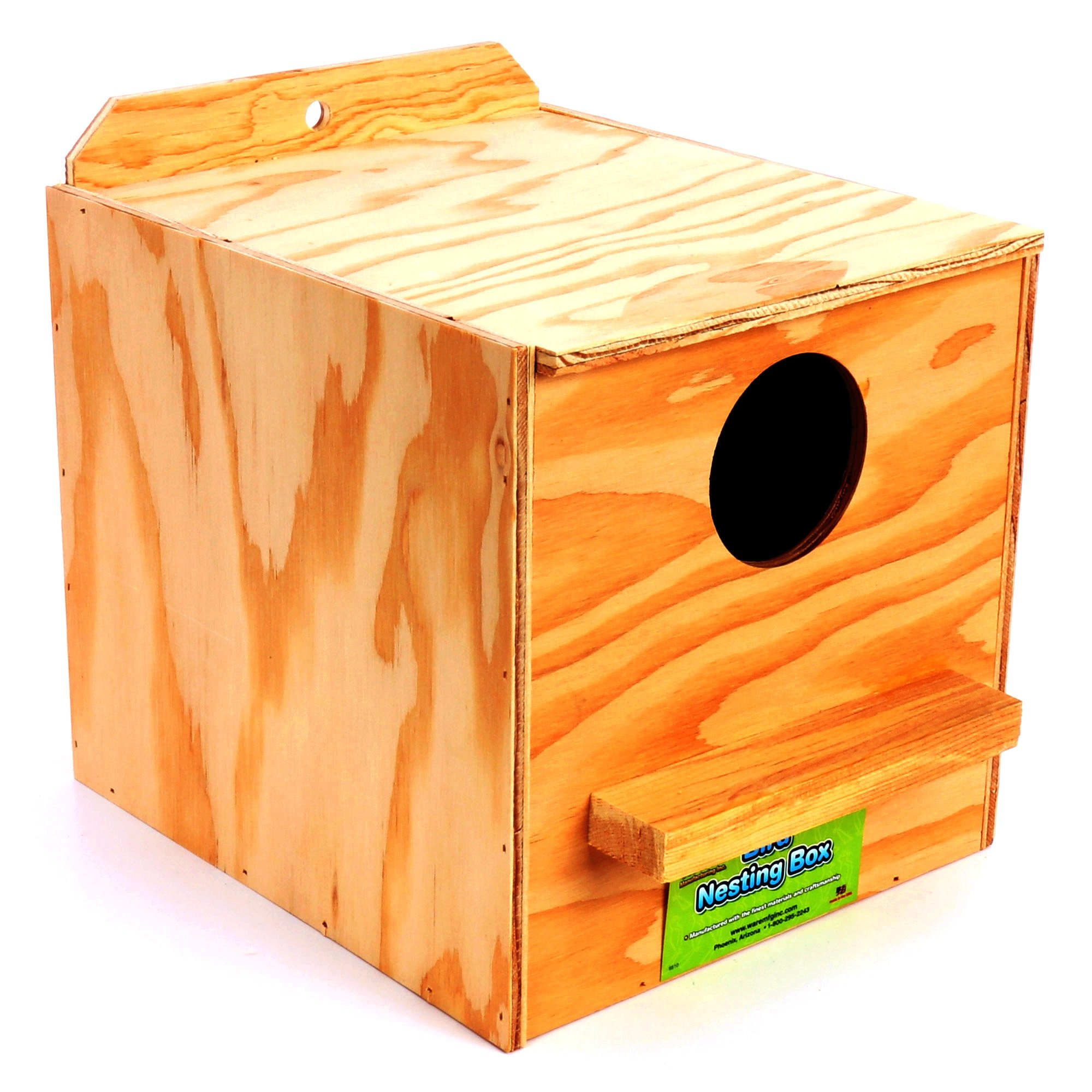 Ware Manufacturing Nest Box, Perfectly Sized for Cockatiels, Natural Wood by Ware Manufacturing