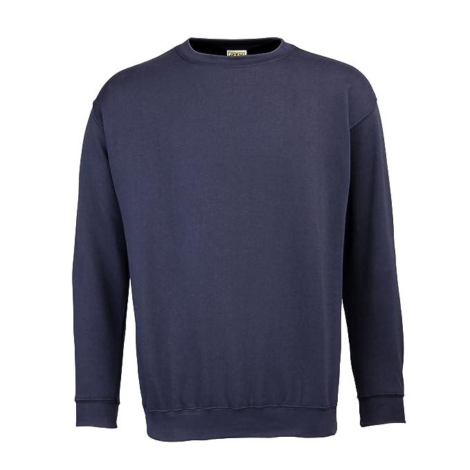 RTY Workwear - Sudadera básica con magas en Set-in Hombre caballero (Tallas grandes