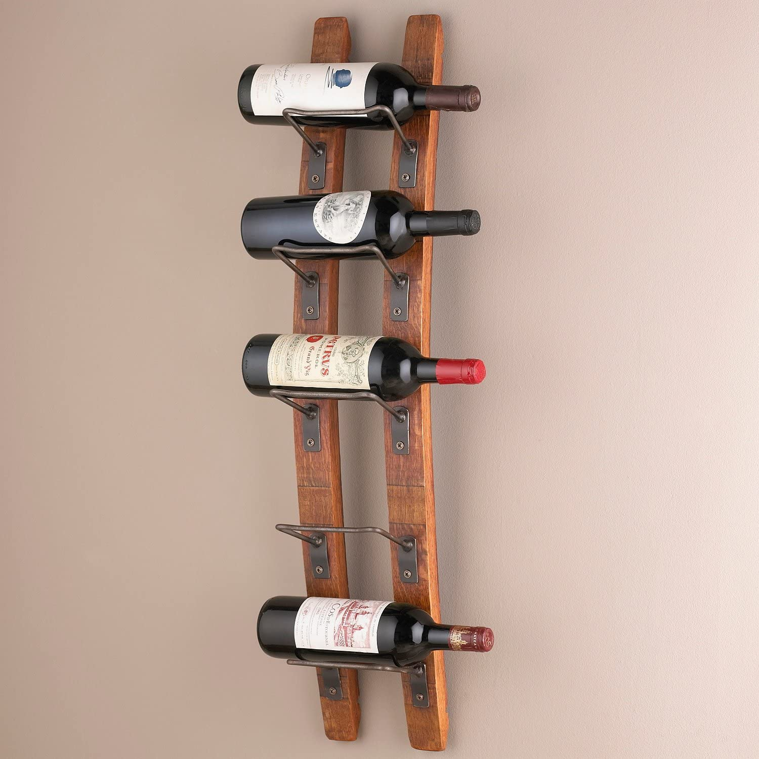 Wine Enthusiast Barrel Stave Wall Wine Rack