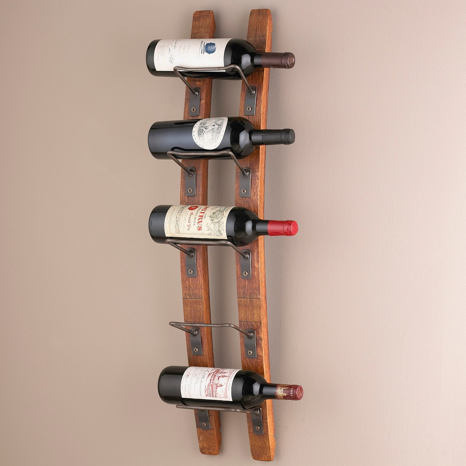 Wine Enthusiast Barrel Stave Wall Wine Rack by Wine Enthusiast