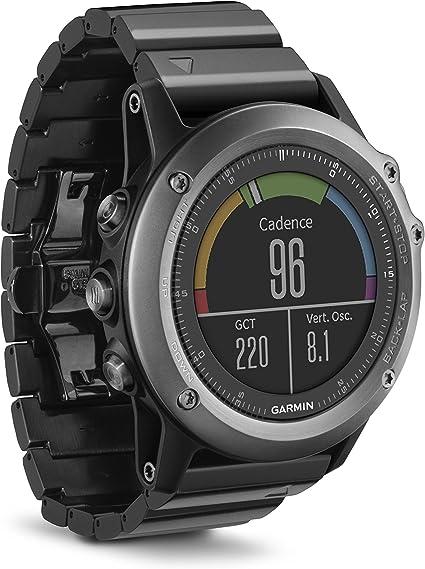 Garmin Fēnix 3 Zafiro - Reloj multideporte con GPS, color negro ...