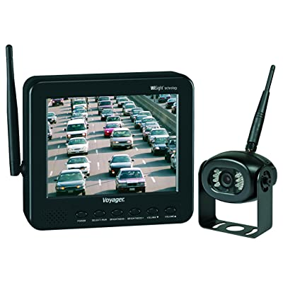 "Voyager WVOS541 four Camera Enabled Digital Wireless Observation System with 5.6"" color LCD monitor, connect up to 4 wireless cameras and 1 wired camera, build-in microphone, 960 x 234 Resolution: Automotive"