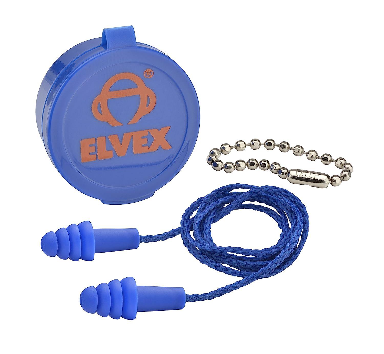 Elvex EP-412 - Quattro Corded Ear Plug w/case & Chain