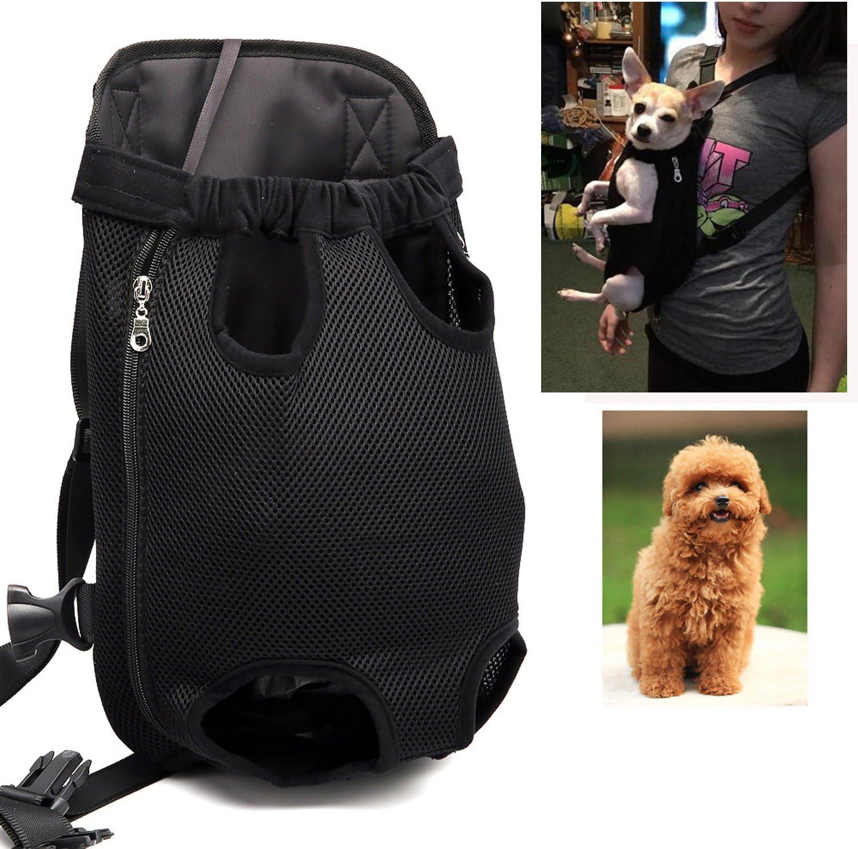 , Black 36cm-50cm Large; Chest Bike and Motorcycle Hiking,Travel Kismaple Pet Dog Carrier Bag Backpack Legs Out Dog Carrier Adjustable Pet Backpack for Walking