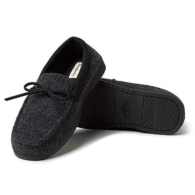 Dearfoams Men's Moccasin with Tie Slipper | Slippers