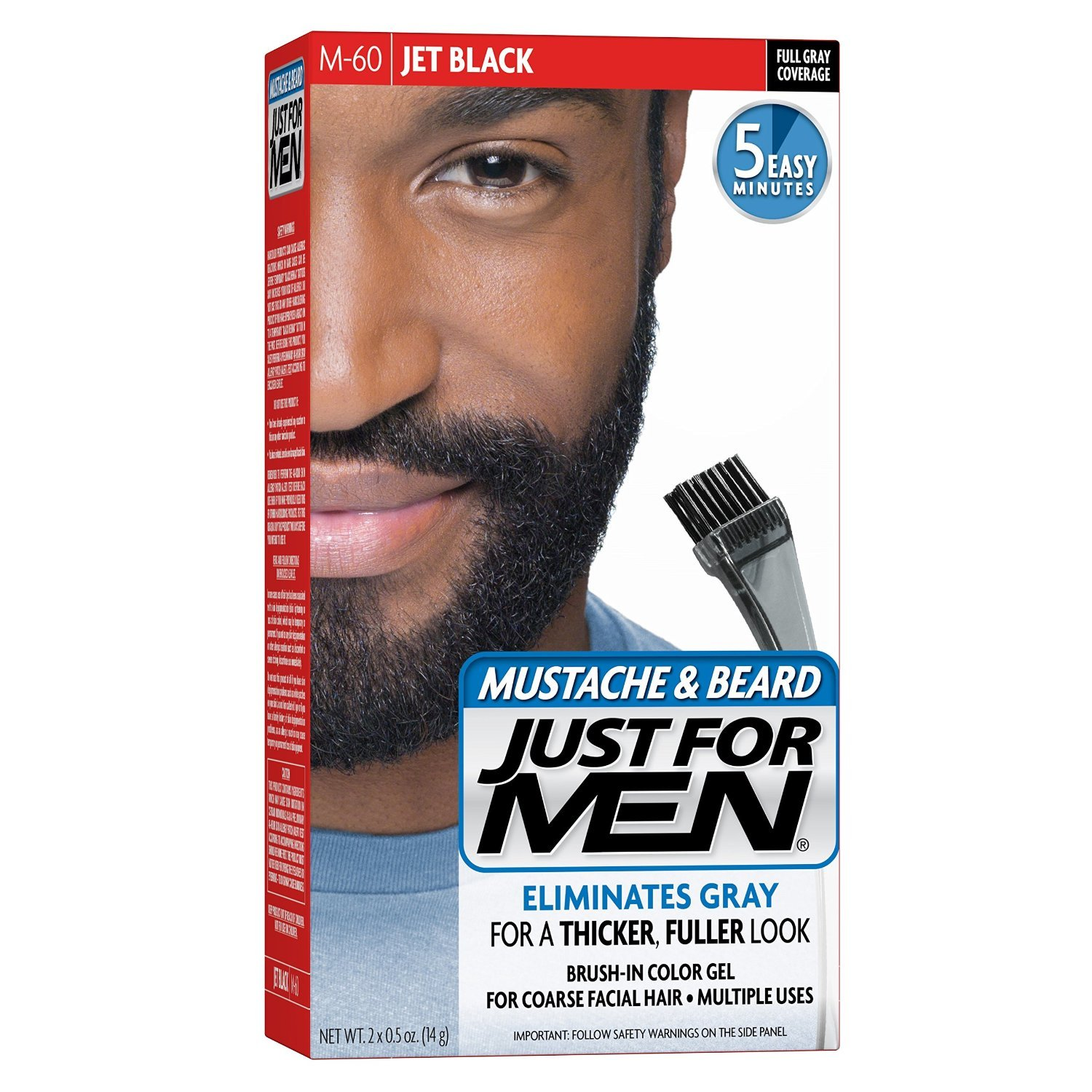 Just For Men Mustache & Beard #M-60 Jet Black Color Gel