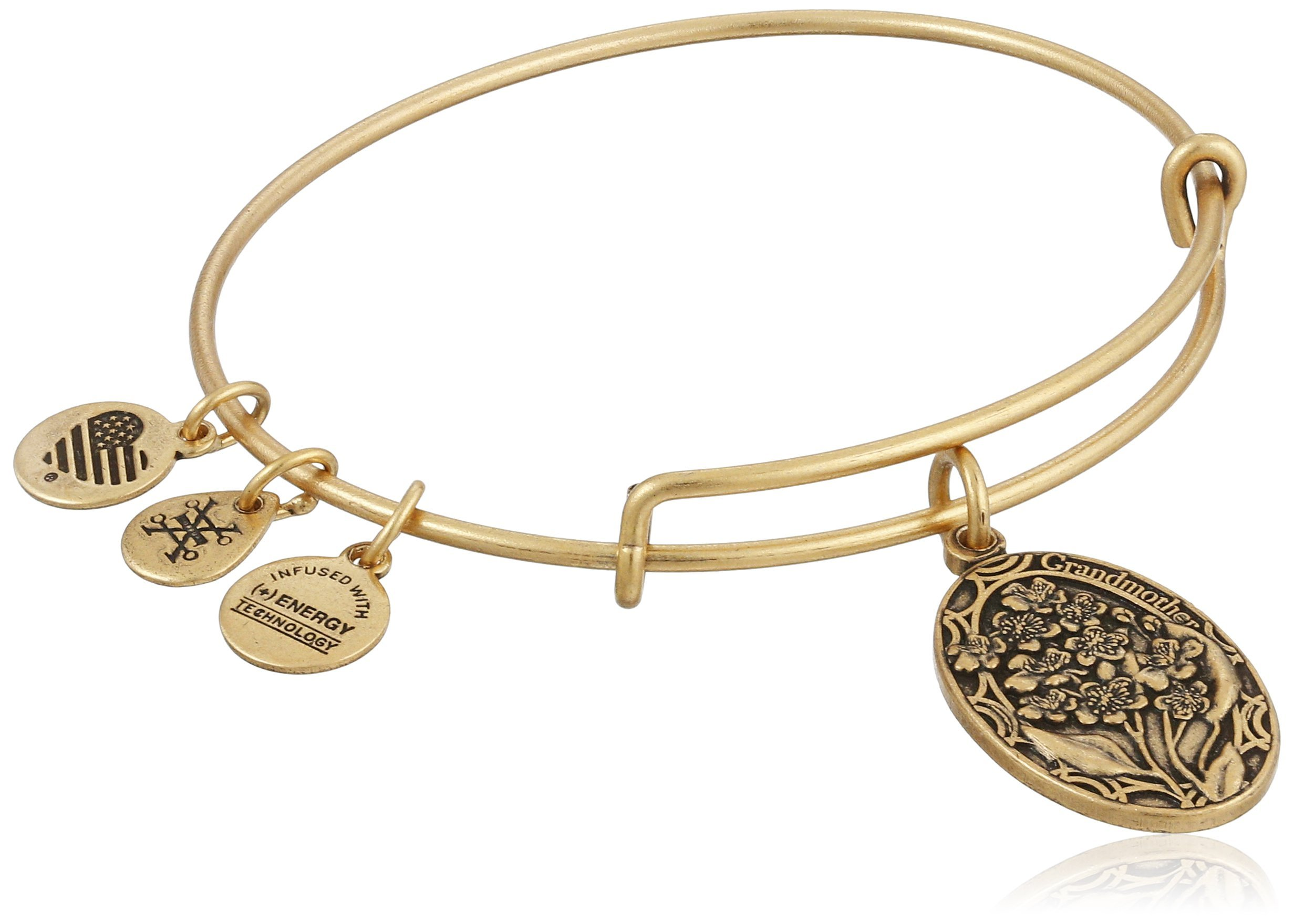 Alex and Ani Because I love you, Grandmother II Expandable Rafaelian Gold-Tone Bangle Bracelet